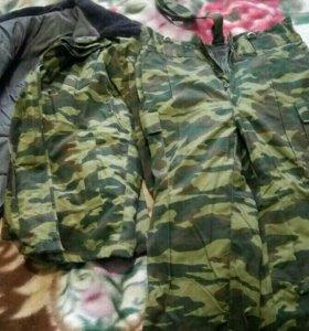 Зимний армейский бушлат и теплые штаны новые