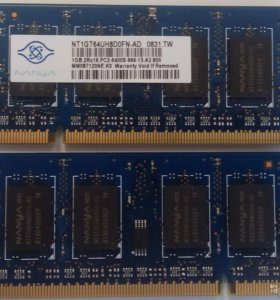 Nt1gt64uh8d0fn-ad ddr2 1gb pc2-6400s-666-13a2-800