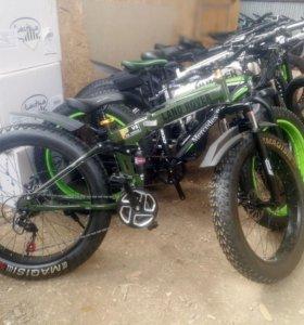 Складной велосипед фэтбайк + крылья в подарок