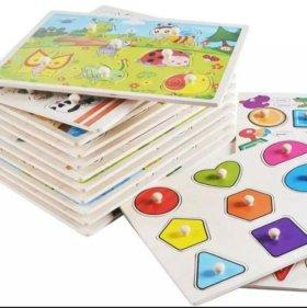 Развивающие игрушки (вкладыш-пазл деревянные)