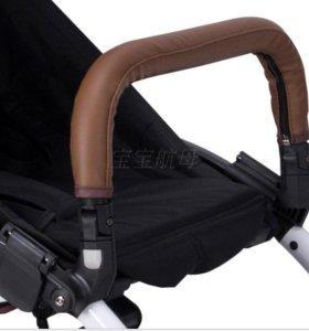 Чехол на бампер и ручку коляски коричневый