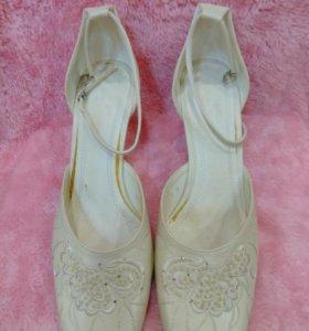 Туфли кожанные женские свадебные