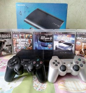 PlayStation 3 SuperSlim 500GB + 5 игр