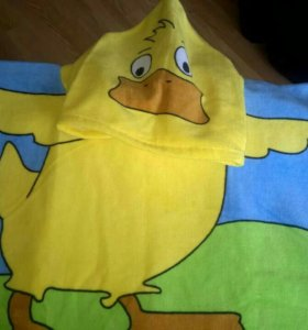 Полотенце-халат детское новое
