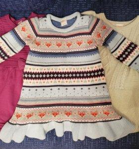 американские детские вязаные платья