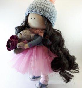 Интерьерная кукла из ткани