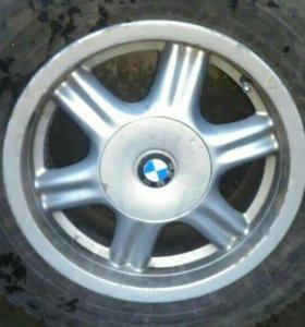 Шины Dunlop Winter Ice 205/65/15 на дисках BMW 10