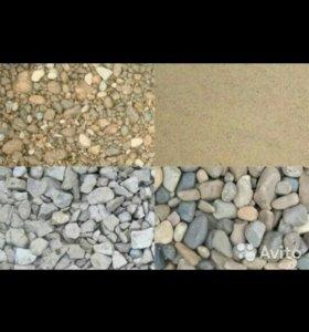 Щебень,Песок,Пгс, Камень плитняк