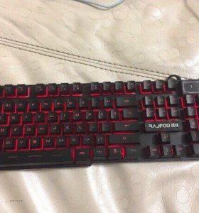 Игровая клавиатура с подсветкой ( торг )