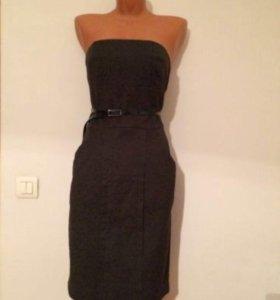 Платье темно серое/чёрное