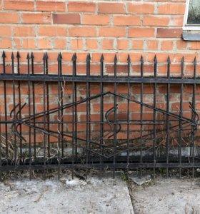 Забор металлический кованный