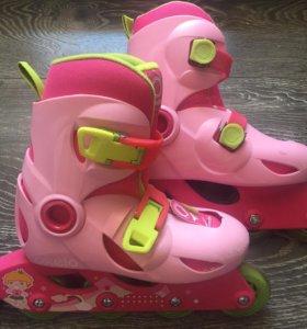 ✅ Роликовые коньки для девочек+шлем