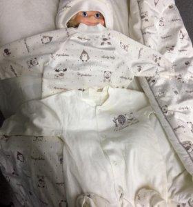 Зимний комплект для новорожденного