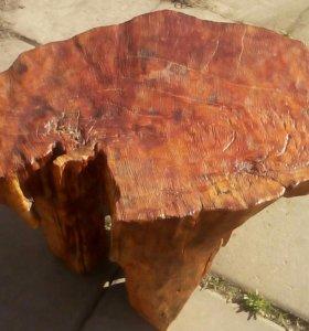 Табурет столик из массива дерева