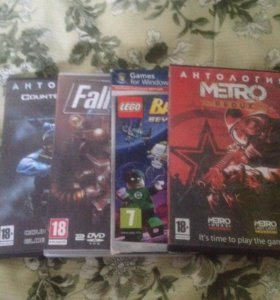 4 диска с играми