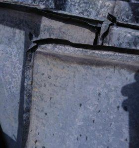 Железо оцинкованное листовое б/у