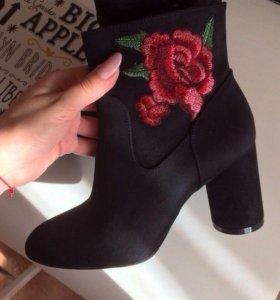 Ботильоны ботинки женские на каблуке