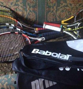 Теннисная ракетка Babolat,Head,