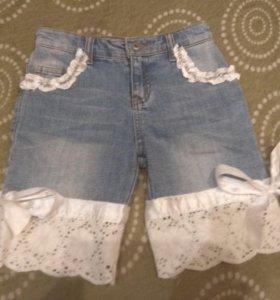 Шорты джинсовые для девочки (6-8 лет)