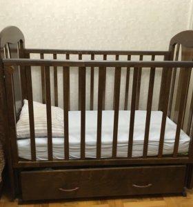 детская кроватка(маятник₽