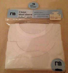 Комплект футболок Mothercare (новый )