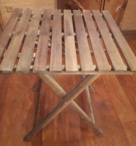 Дачный складной деревянный стол
