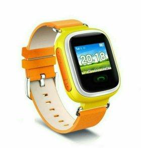 Детские часы с gps Q60 (с отслеживанием) новые