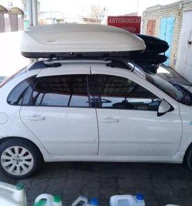 Автобокс Turino Standart 410 литров, белый матовый