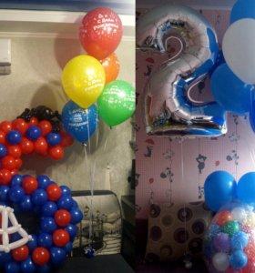 Воздушные шары - композиции, фигуры, букеты