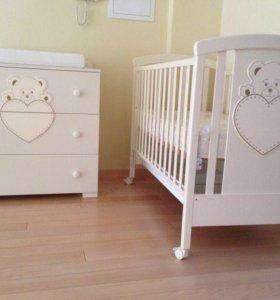 Для самого лучшего: Детская кроватка, комод, манеж