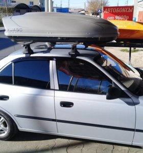 Автобокс Yuago Avatar 460 литров, Серый Матовый