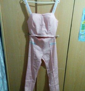 Женский костюм топ+брюки