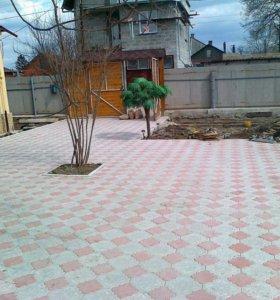 Брусчатка вибролитая,бордюр,тротуарная плитка.
