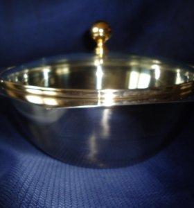 миска с крышкой стеклянной