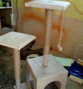 Дом для кошки с когтеточкой,выс 100 см