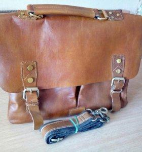 Кожаная сумка/ портфель