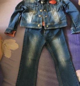 Джинсовый костюмчик для маленькой модницы
