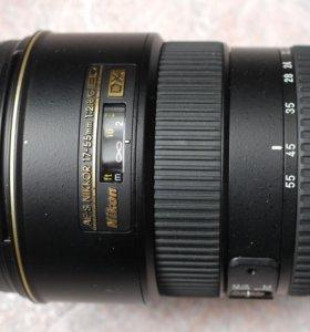 объектив Nikkor AF-S DX 17-55 mm 1:2,8 G ED