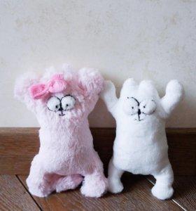 Кот Саймона плюшевый розовый