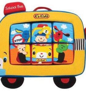 Мягкий автобус с пазлами
