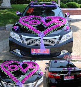 Украшения для свадебного автомобиля аренда