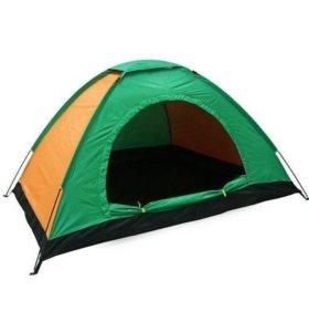 Новая двухместная туристическая палатка.