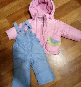 комбинезон и куртка комплект рост 74