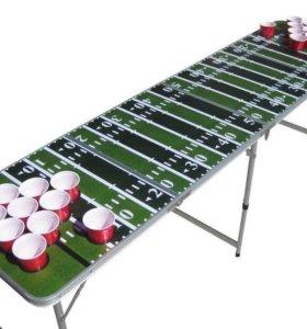 Аренда Beer pong. Столы и стаканы для бирпонга