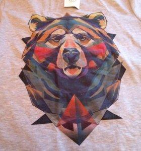 Брендовая футболка фирмы Нити-Нити с 3д принтом.
