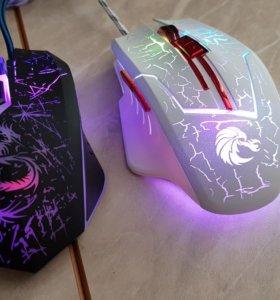 Мышка проводная с подсветкой RGB