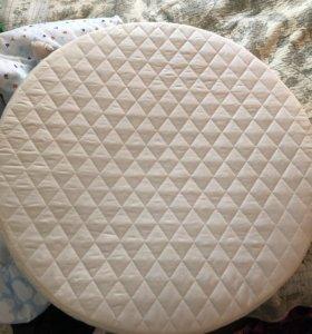 Матрас детский, матрас в круглую кроватку 75х75