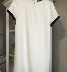 Платье мини -Sisley белое