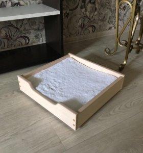 Лежанка кроватка матрасик для кошки или собаки
