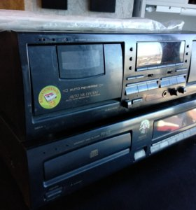 Кассетная дека Pioneer CT-W504R + CD Pioneer PD-20
